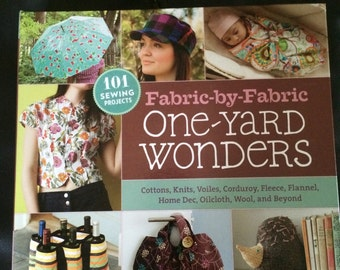 SALE!! Half off original listing price! One Yard Wonders Fabric by Fabric sewing book with patterns by Yaker and Hoskins hardcover