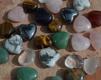 """Crystal Hearts, 1"""" Great gift for you or a loved one! Pick your favorite, only 3 dollars each."""