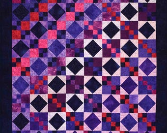 Modern Royal Geometric Quilt