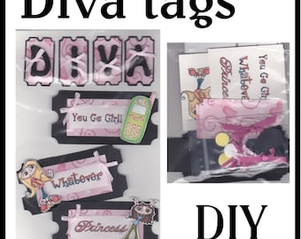 CLEARANCE SALE * Scrapbook Page Diva Scrapbook Paper Layout kit Scrapbooking  Embellishment 3d Teenager ticket tags Scrapbook Paper Piecing