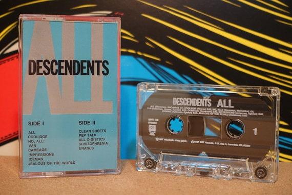 All by Descendents Vintage Cassette Tape