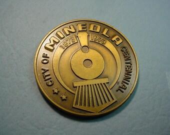 Medal Mineola Texas Centennial 1873/1973 Bronze 39 mm Mint Condition<>ET-7525