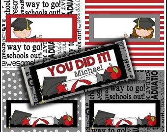 80% OFF SALE Graduation Candy Bar Wrappers for Teachers, Homeschoolers, Moms, and more.