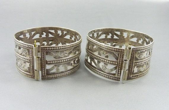 Paire de bracelets argent Berbères d\u0027Algérie, bijoux berbère, ancien  bracelet tribal, bijoux ethnique, bracelet argent, algérien berbère