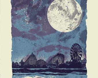 Santa Carla - Screenprinted Art Print