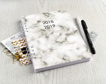 Planner 2018-2019 wekelijkse planner A5 marmer planner notebook maandelijkse planner marmer agenda 2018 dagelijkse planner 2018 2019 spiraal Weekplanner