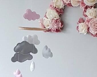 Cloud Mobile, decorative for nursery