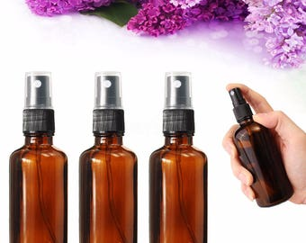 10ml(0.3oz), 30ml(1oz), 50ml(1.7oz)  Amber Glass Bottle with Fine Mist Spray