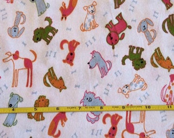 """Puppy Dogs on cotton lycra knit fabric 58"""" wide"""