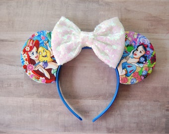Floral Princess Sequin Bow Ears