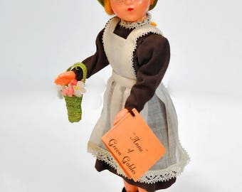 Vintage Anne of Green Gables Doll Kinlock Prince Edward Island 1950-60's Lucy Maude Montgomery