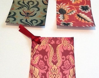8 Medieval Fabric Gift/Thank You Tags