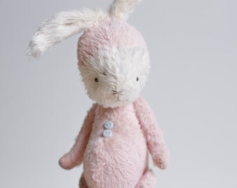 Made To Order Plush Bunny 7 Inches Stuffed Animal Handmade Toy Mohair Rabbit Soft Toys Personalized Gift For Her Artist Teddy Bear