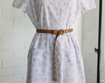 Vintage Maternity Shift Dress ~ Handmade Country Prairie Floral