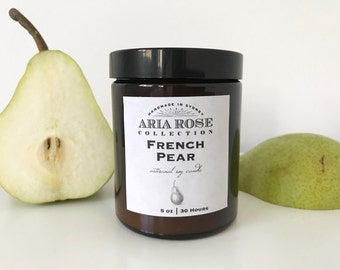 French Pear Scented Soy Candle - 5 oz