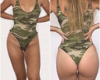 Jane - Camo Body Suit Camouflage