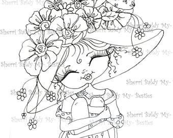 INSTANT DOWNLOAD Digital Digi Stamps Big Eye Big Head Dolls Digi   Besties Fancy Pants 74 Besties By Sherri Baldy