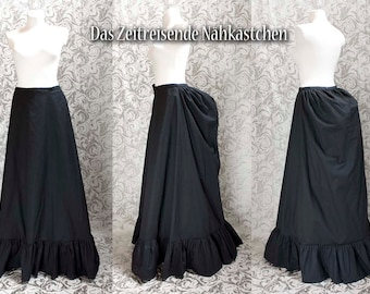 Victorian underskirt, bustle skirt, black, made to measure