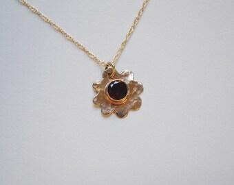 14k gold Garnet Necklace