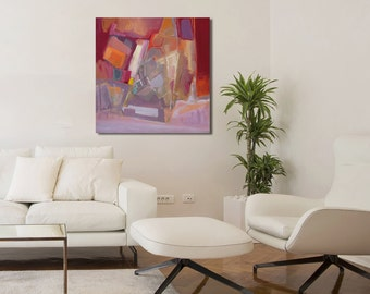 Acrylic Painting Landscape, Canvas Painting, Abstract Painting Original, Abstract Art, Modern Abstract Art, Red Painting, Purple Painting