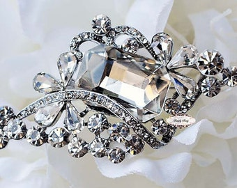 Rhinestone Brooch Embellishment - Flatback - Rhinestone Broach - Brooch Bouquet - Supply - Wedding Jewelry Supply - RD267