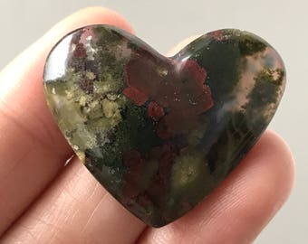Beautiful Natural Scenic Moss Agate 23 x 33 mm