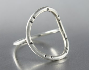Circle Ring, Sterling Silver Ring