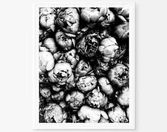 Peony Black White, Peonies wall prints, Peony Bouquet, Peonies print, Peony Print, Peonies Art, Peonies, Floral Print, Print Poster, petals