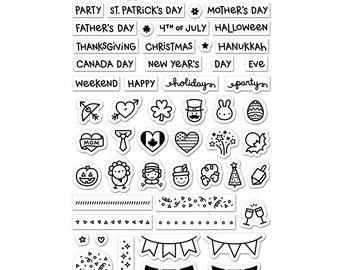 Lawn Fawn Clear Stamp Set - Plan on It Holidays - LF1231