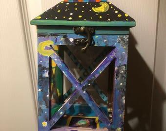 Groovy Hand Painted Lantern