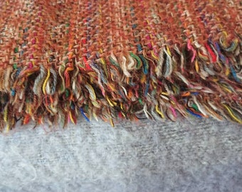 Beautiful multi coloured woolen blanket, picnic blanket. Throw.