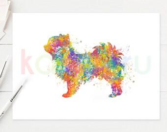 Chihuahua Watercolor Art - Chihuahua Watercolor Print - Chihuahua Watercolor Poster - Chihuahua Wall Art - Dog Watercolor - A58