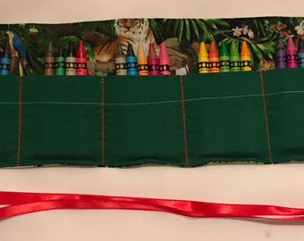 Rainforest Crayon Roll- crayons included