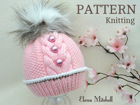How To Knit A Baby Girl Hat Knitting Pattern