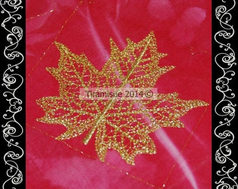 Skeleton Leaf - Four Sizes - Style 6 only   Machine Embroidery Designs