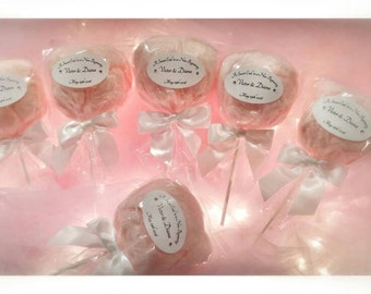 Cotton Candy Pops Custom label (1 Dozen per order)