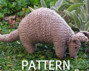 Armadillo Knitted Toy Pattern, (PDF), Digital Download