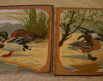 Decorative Duck Linen Squares