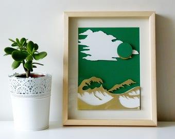 Green Sea Landscape
