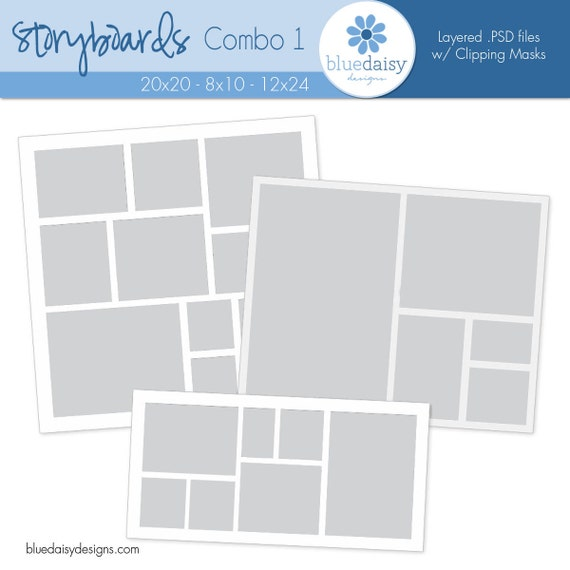 Storyboard Templates Combo 1 Photoshop Files For