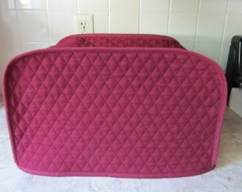 Burgundy Reversible Toaster Oven Cover Small Appliance Covers Made To Order