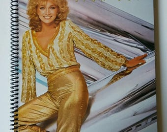 """Barbara Mandrell Spiral Notebook Hand Made from Recycled Vinyl Record Album Cover """"Spun Gold"""""""