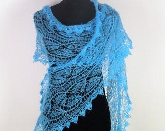 Blue  Mohair Scarf,Handmade Scarf,Wool Scarf,Mohair Scarves,Mohair Scarf,Black Scarf,Handmade Scarves,Wool Scarves,Knitted Scarf