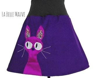 Cat skirt purple