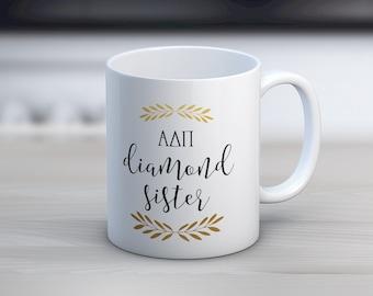 ADPi Alpha Delta Pi Diamond Sister Mug Sorority Coffee Mug