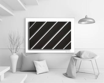 Abstract Diagonal BW