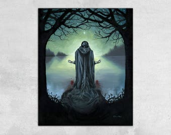 The Promise of Death - Dark Suicidal Occult Gallery Wrapped Canvas Print