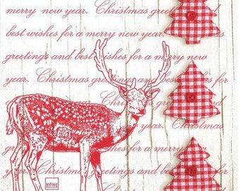 """218 - christmas napkin """"Christmas"""""""