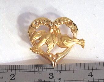 Love Birds Pin ~ Vintage Avon Tac Pin ~ Scatter Pin ~ Lapel Pin ~ Tie Tack