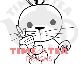 Some Bunny Special Digital Stamp, Line Drawing Illustration, Paper Craft, Adult Colouring, card making, Easter, Bunnies, critters